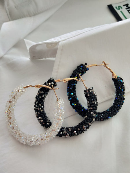 Crystallized Hoop earrings