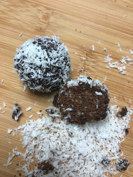 Strawberry Velvet Truffles in Coconut Flakes 12pc