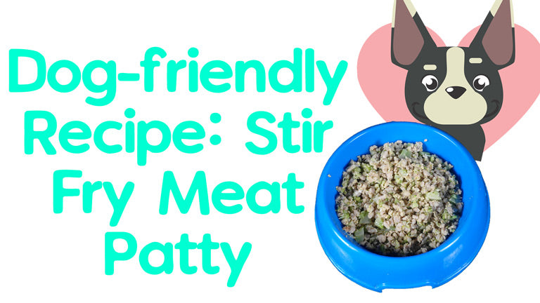 Dog Food Recipe: Stir-fry Meat Patty