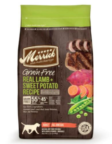 Dog Food Review: Merrick Grain Free Lamb and Sweet Potato Recipe