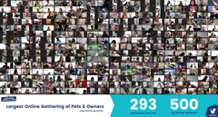 Record Breaking Event For Largest Online Gathering of Pets & Owners