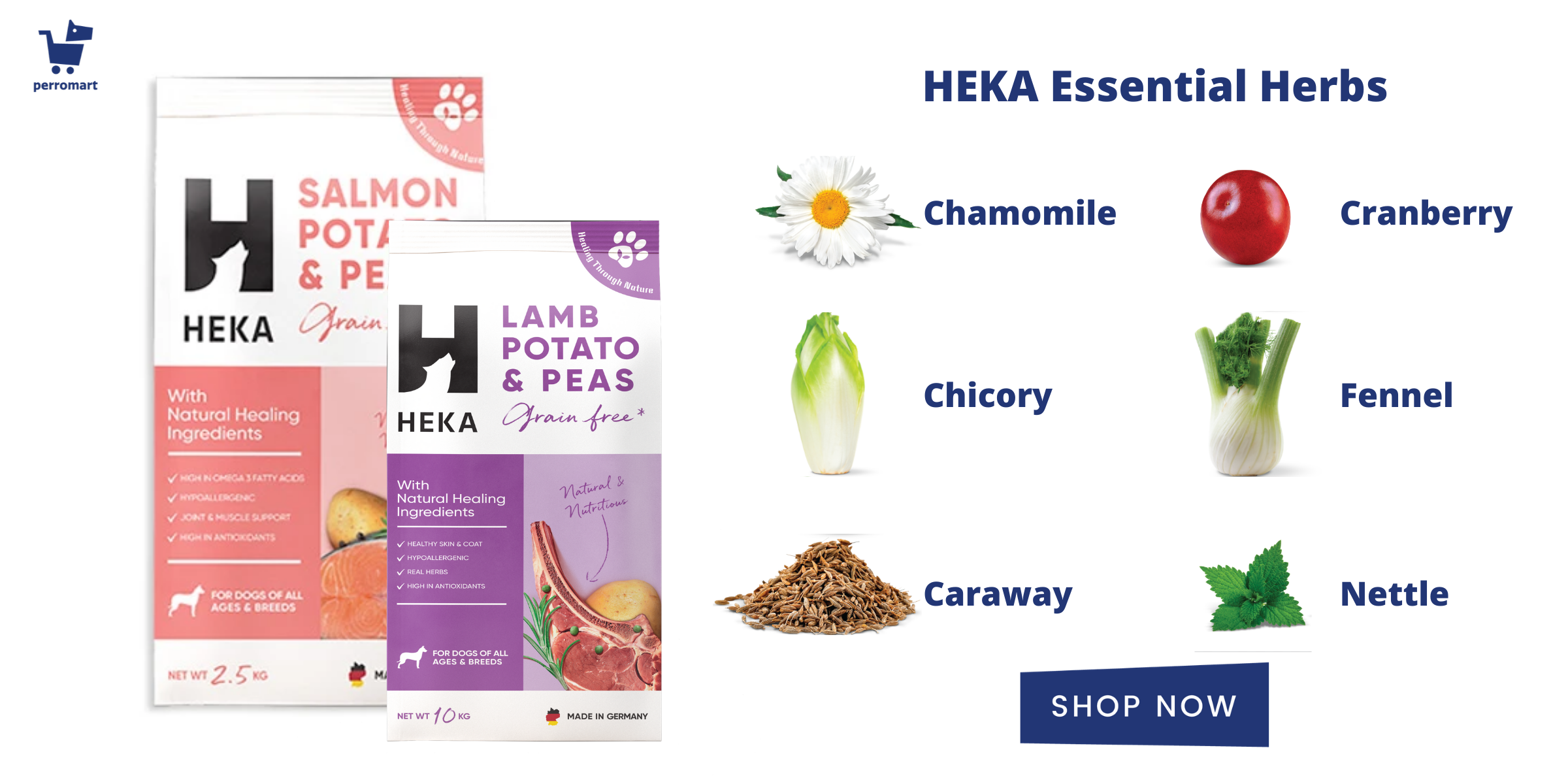 heka dog food grain free lamb and salmon