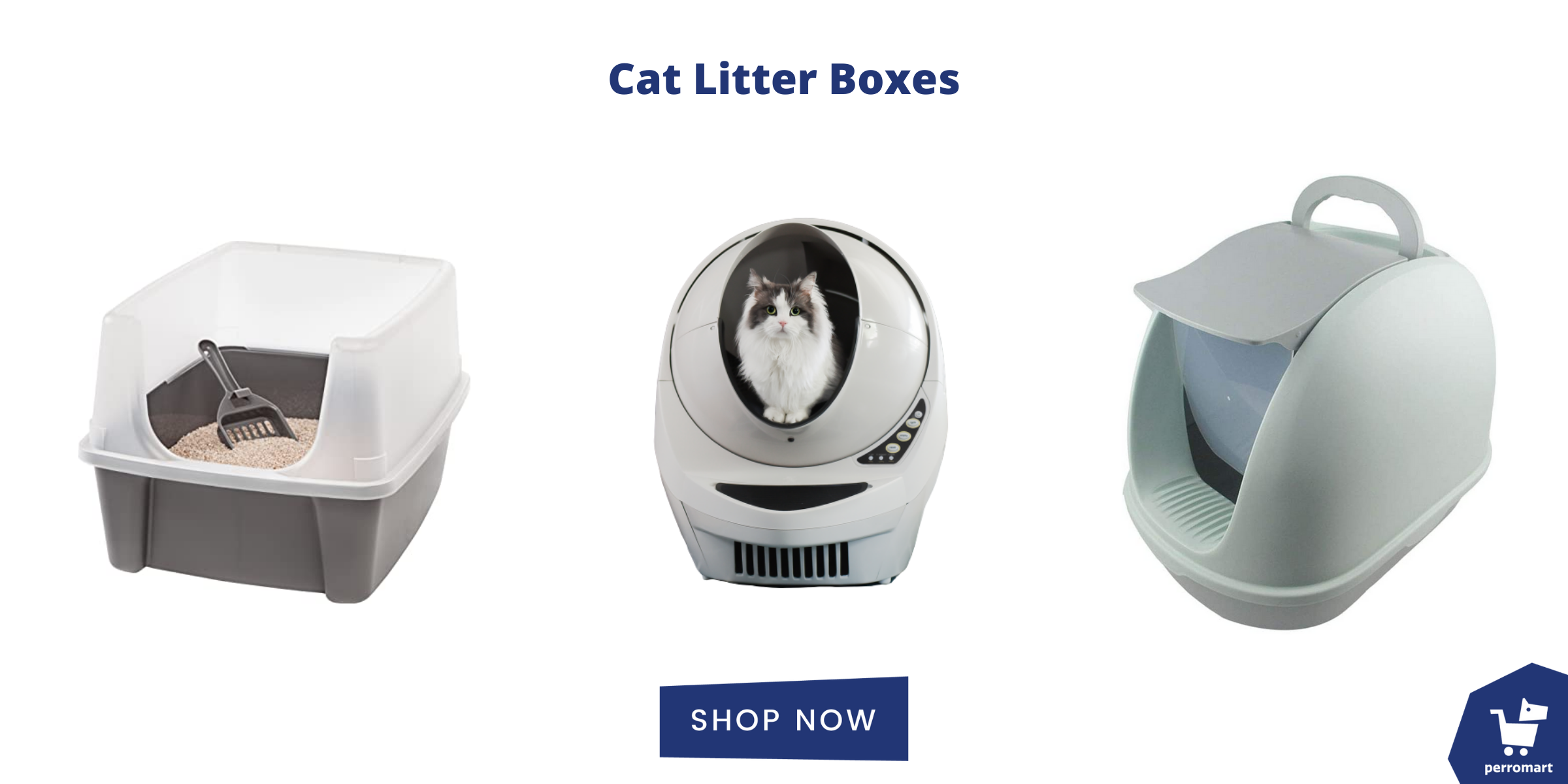 cat litter boxes and scoops