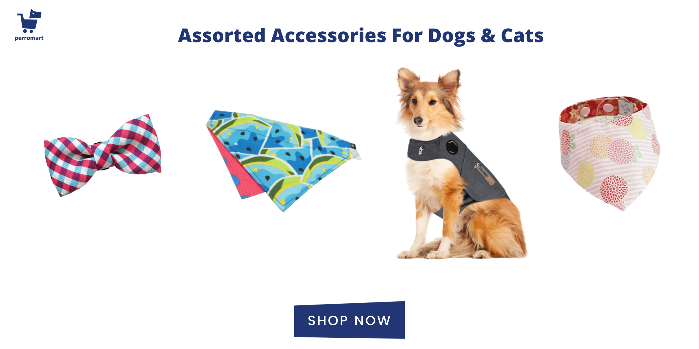 accessories for dogs and cats birthdays, bow ties, bandanas, shirts