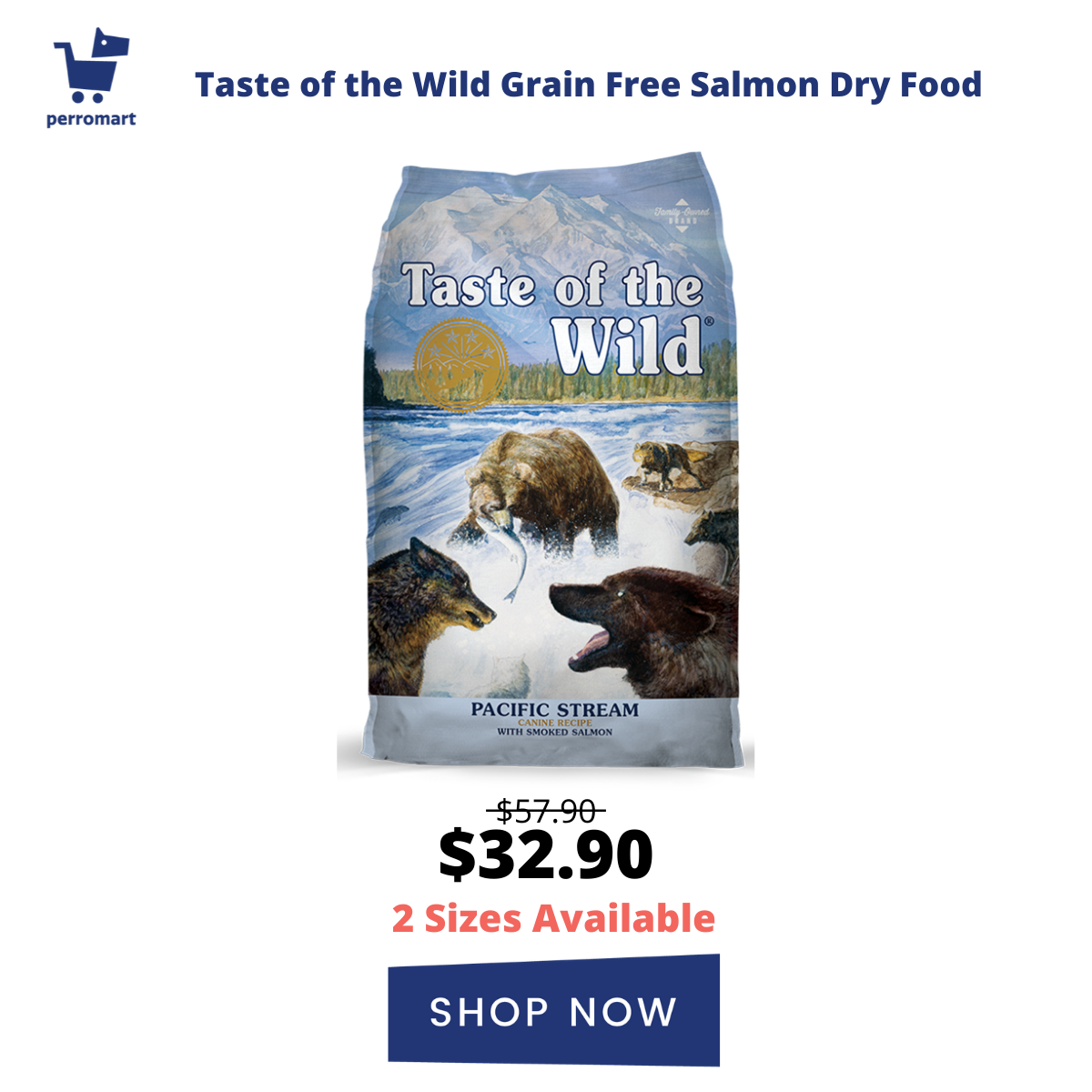 Taste Of The Wild Pacific Stream with Smoked Salmon Canine Dry Dog Food (2 Sizes)