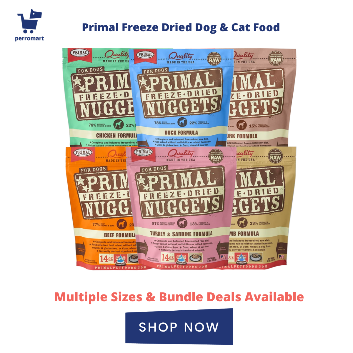 Primal Freeze Dried Food For Dogs and Cats