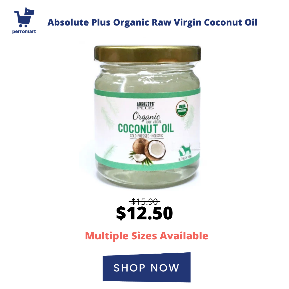 Absolute Plus Organic Raw Virgin Coconut Oil (2 Sizes)