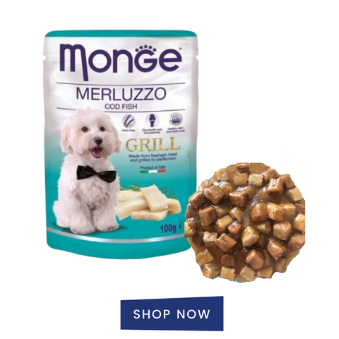 Monge grill pouch wet food for dogs