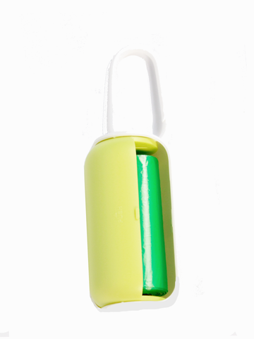Paw Made Essentials Poo Bag Dispenser White/Green for Dogs & Cats