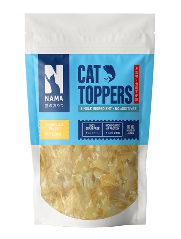 NAMA Dried Bonito Flakes Food Topper for Cats (Thin Cuts) 30g