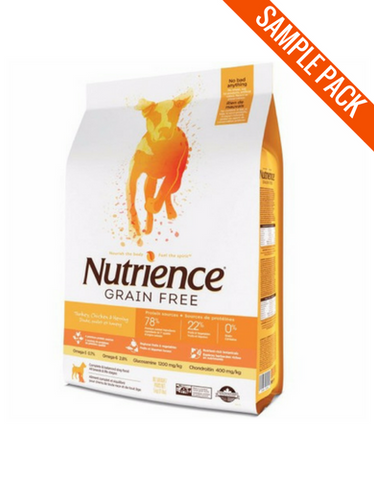 Nutrience Grain Free Turkey, Chicken & Herring Dry Dog Food Sample