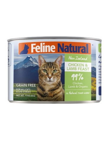 Feline Natural Chicken & Lamb Cat Canned Food 2 Sizes | Perromart Online Pet Store Singapore