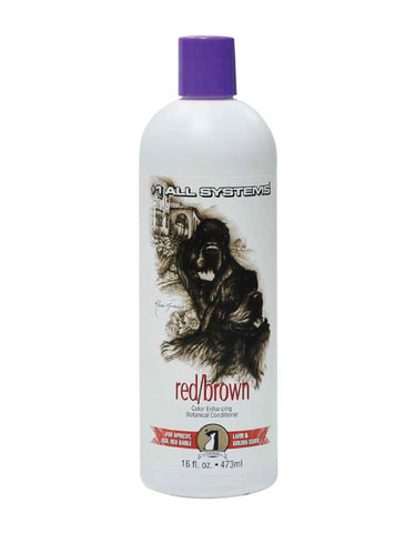#1 All Systems Color Enhancing Conditioner Red/Brown for Dogs 16oz | Perromart Online Pet Store Singapore