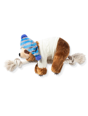 Fringe Studio Beanie And Sweater Sloth Dog Squeaky Plush Toy | Perromart Online Pet Store Singapore