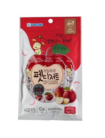 Forcans Puree Creamy Treats Apple (15g x 7pcs) | Perromart Online Pet Store Singapore