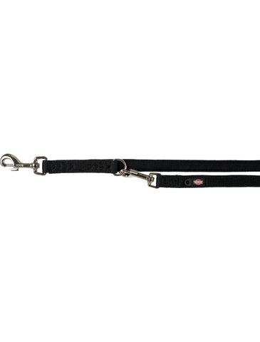 Trixie Comfort Soft Adjustable Leash for Dogs - Black (3 Sizes) | Perromart Online Pet Store Singapore