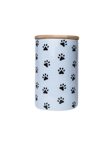 Park Life Design Blue Pawz Treat Jar (35oz) | Perromart Online Pet Store Singapore