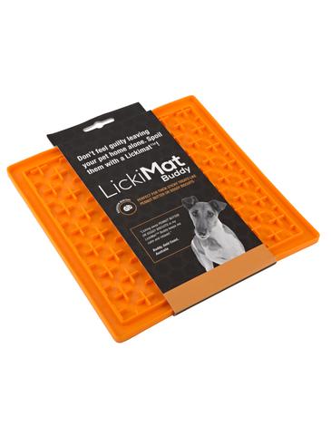 Lickimat Buddy Boredom Buster Mat for Dogs Orange (Large) | Perromart Online Pet Store Singapore