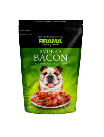 Prama Delicacy Snack Smoky Bacon Dog Treats 70g | Perromart Online Pet Store Singapore