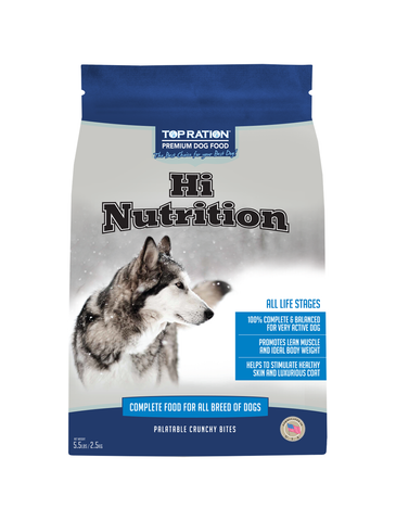 Top Ration Hi Nurition Dog Dry Food (2 Sizes) | Perromart Online Pet Store Singapore