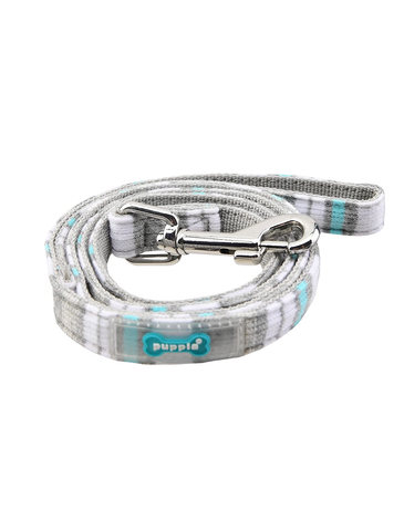 Puppia Red Oceane Grey Lead for Dogs (2 Sizes) | Perromart Online Pet Store Singapore