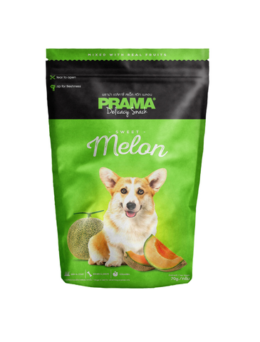 Prama Delicacy Snack Melon Dog Treats 70g | Perromart Online Pet Store Singapore
