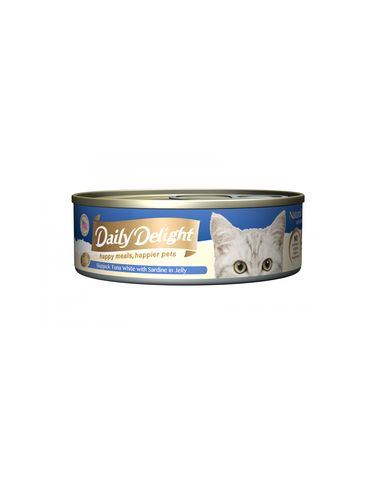 Daily Delight Jelly Skipjack Tuna White with Sardine Canned Cat Food | Perromart Online Pet Store Singapore