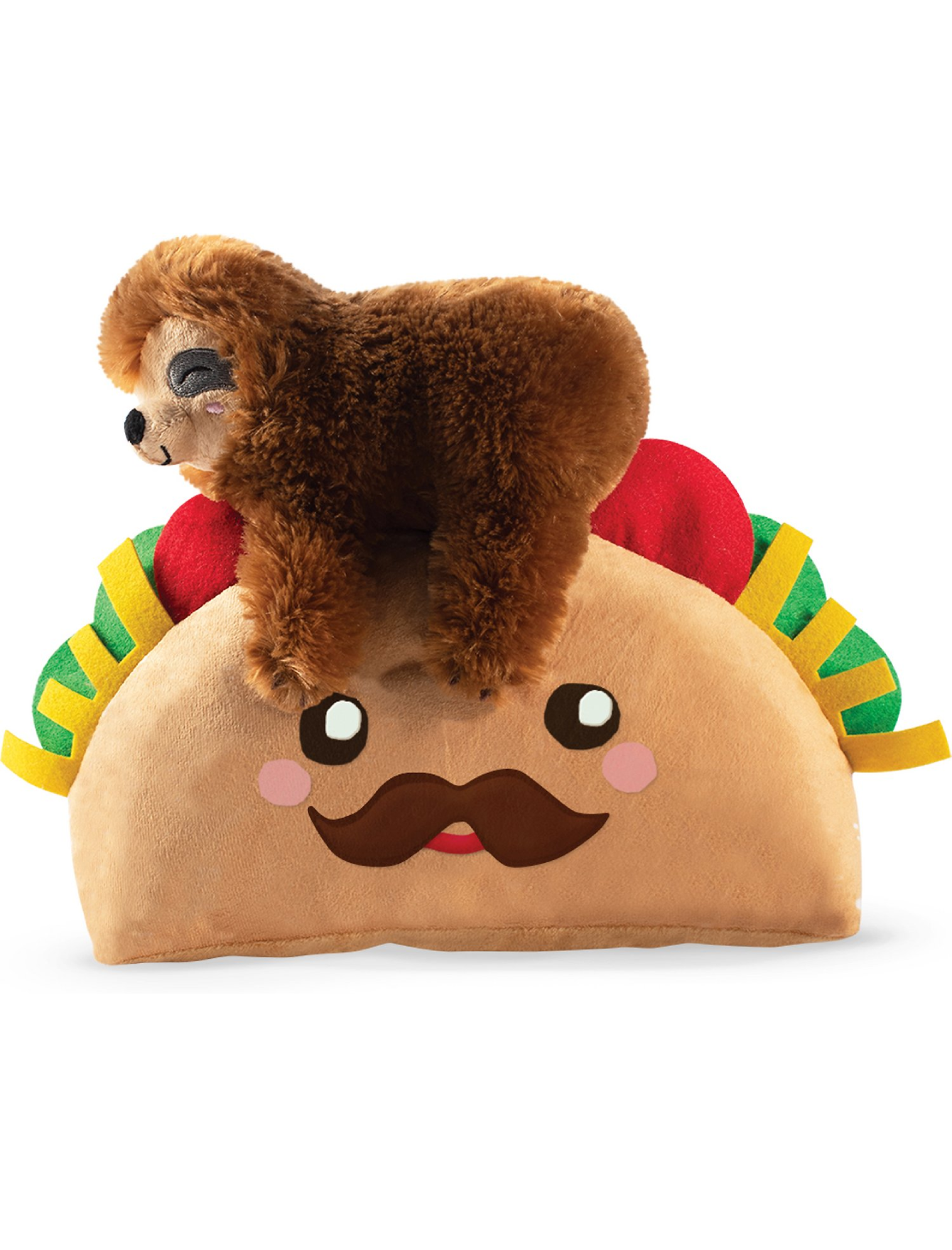 Fringe Studio Taco Sloth, Dog Squeaky Plush Toy | Perromart Online Pet Store Singapore