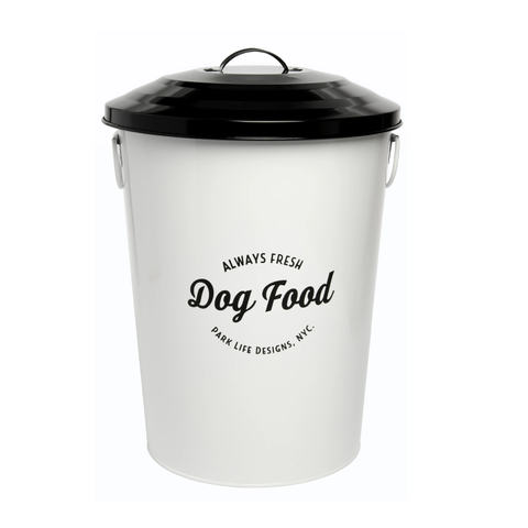 Park Life Design Andreas White Food Storage Canister (3 Sizes) | Perromart Online Pet Store Singapore