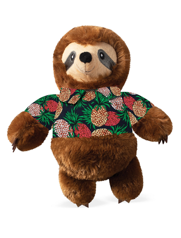 Fringe Studio Vacay Vibes Sloth Dog Squeaky Plush Toy | Perromart Online Pet Store Singapore
