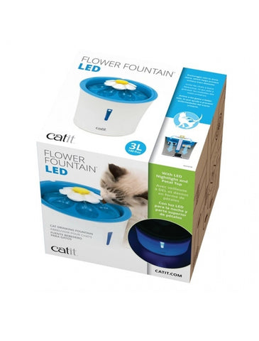 Catit Flower Fountain LED 3L | Perromart Online Pet Store Singapore