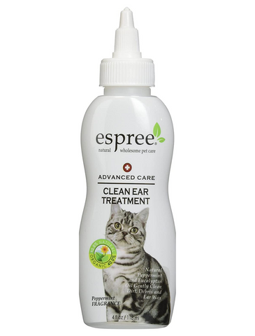 Espree Clean Ear Treatment For Cats 4oz 118ml | Perromart Online Pet Store Singapore