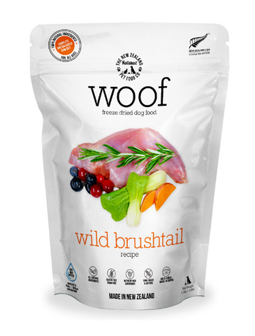 WOOF Freeze Dried Raw Wild Brushtail Dog Dry Food 2 Sizes | Perromart Online Pet Store Singapore