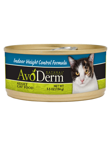 AvoDerm Natural Indoor Weight Control Formula Adult Canned Cat Food 5.5oz | Perromart Online Pet Store Singapore
