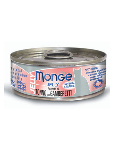 Monge Jelly Yellowfin Tuna with Shrimp Cat Food 80g | Perromart Online Pet Store Singapore