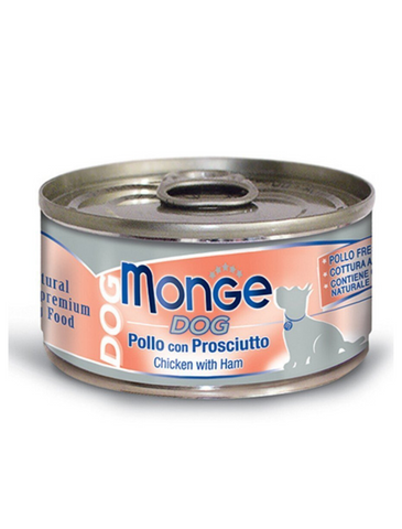 Monge Chicken with Ham Wet Dog Food 95g | Perromart Online Pet Store Singapore