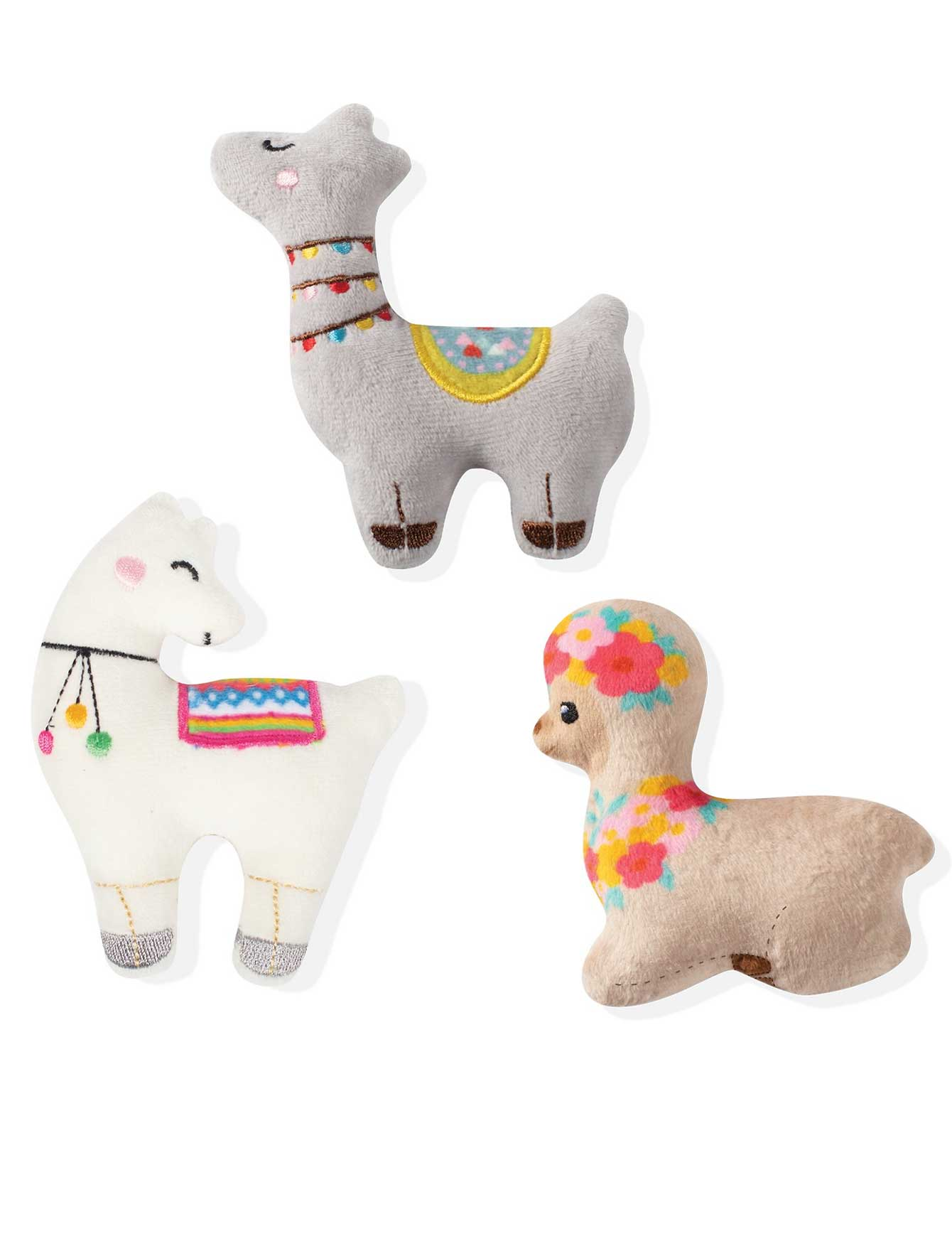 Fringe Studio Unstuffed Llama Love, Dog Squeaky Plush Toy | Perromart Online Pet Store Singapore