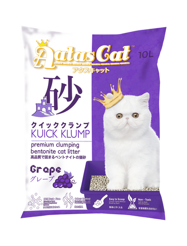 Aatas Cat Kuick Klump Bentonite Cat Litter Grape 10L