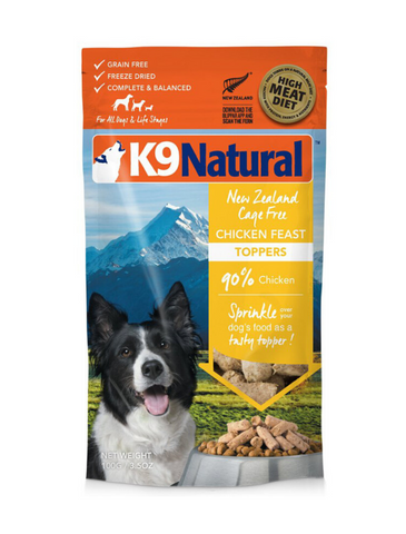 K9 Natural Freeze Dried Chicken Feast Toppers 100g | Perromart Online Pet Store Singapore