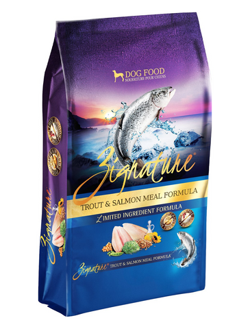Zignature Trout & Salmon Meal Grain Free Dry Dog Food 3 sizes | Perromart Online Pet Store Singapore