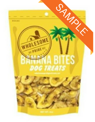 Wholesome Pride Banana Bites Dog Treat Sample