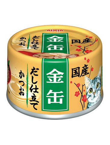 Aixia Kin-Can Dashi Skipjack Tuna With Skipjack Tuna Sauce Canned Cat Food 70g | Perromart Online Pet Store Singapore