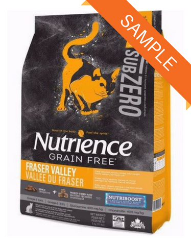 Nutrience SubZero Grain Free Fraser Valley Cat Food Sample