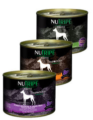 [5 CANS FOR $12.12] Nutripe Exotic Canned Dog Food 175g | Perromart Online Pet Store Singapore