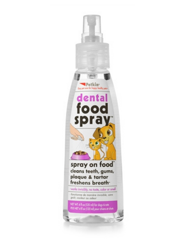 Petkin Dental Food Spray For Pet 4oz 118ml | Perromart Online Pet Store Singapore