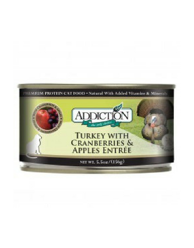 Addiction Turkey with Cranberries & Apples Entrée Canned Cat Food 156g | Perromart Online Pet Store Singapore