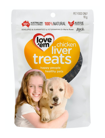 love 'em Chicken Liver Treats for Dogs 90g | Perromart Online Pet Store Singapore