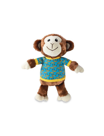 Fringe Studio Bananas The Monkey, Squeaky Plush Dog Toy | Perromart Online Pet Store Singapore