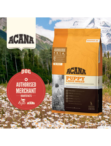 Acana Heritage Dog Dry Food for Large Breed Puppy (2 Sizes) | Perromart Online Pet Store Singapore