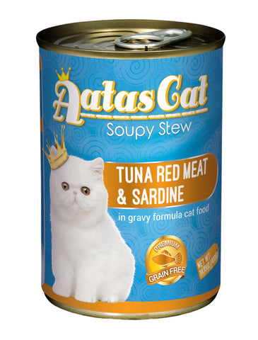 Aatas Cat Soupy Stew Tuna Red Meat w Sardine in Gravy 400g | Perromart Online Pet Store Singapore